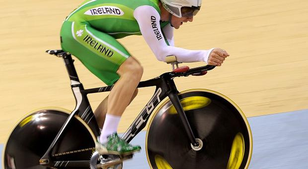 Martyn Irvine, pictured, qualified second fastest for the men's individual pursuit and faces Michael Hepburn in the final