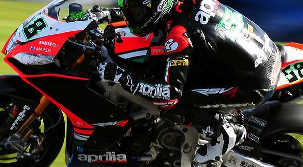 Eugene Laverty, pictured, is 23 points behind leader Tom Sykes