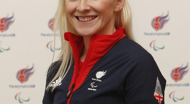 Kelly Gallagher triumphed in the super-G with guide Charlotte Evans in Sochi