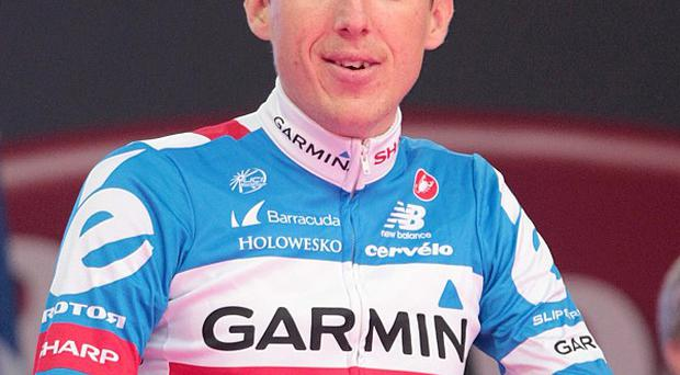 Dan Martin, pictured, and Koldo Fernandez were both injured in the same crash during Friday's team time trial
