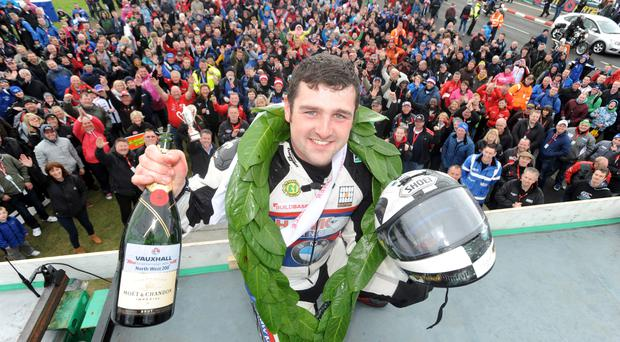 Brilliantly Dun: double winner Michael Dunlop claimed Man of the Meeting honour, named in memory of his dad Robert