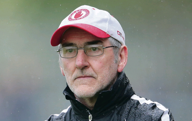 Fighting talk: Mickey Harte has reacted angrily to claims by the GAA president Liam O' Neill that he is a man of 'constant negativity'