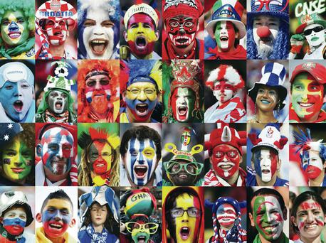 Colour and passion: Fans of the 32 countries competing in Brazil will make the 2014 World Cup an occasion to be remembered