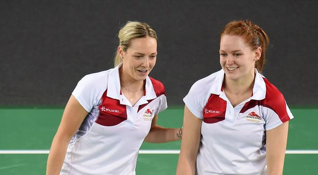 Gabby Adcock, left, and Lauren Smith, right, are through to the last 16