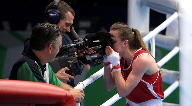 Michaela Walsh, pictured, will face Nicola Adams in the flyweight final
