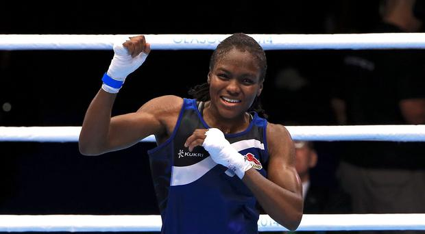 Nicola Adams, pictured, fought off a spirited display from Michaela Walsh to claim gold