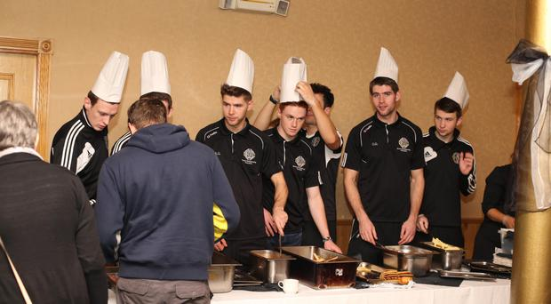 Masterchefs: Omagh St Enda's players cook a fundraising breakfast ahead of their Ulster final showdown against Slaughtneil