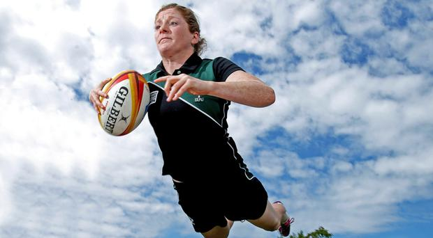 New heights: Grace Davitt has retired from international rugby after helping Ireland to the top of the women's game