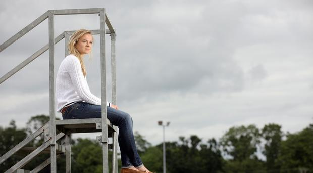 Seat of learning: Joanna Mills may return to athletics when her studies are completed