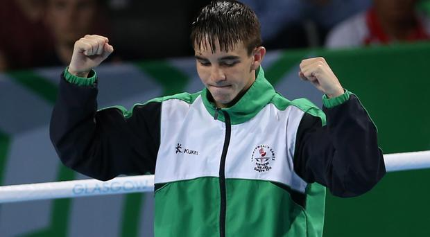 Gold standard: Belfast boxer Michael Conlan after winning gold at the Commonwealth Games in Glasgow