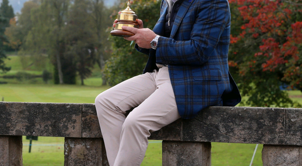 The cup runneth over: Paul McGinley has been inundated with offers since leading Europe to victory in the Ryder Cup at Gleneagles