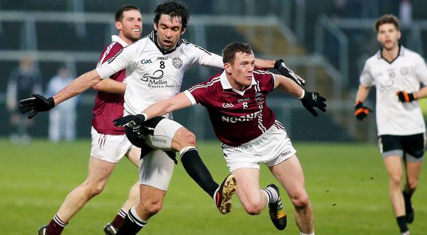 Breathing space: Patsy Bradley and his Slaughtneil colleagues will enjoy a well earned Christmas respite