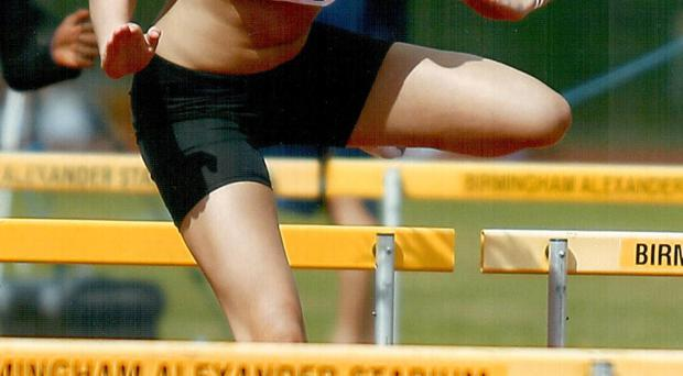 On the run: Belfast's Megan Marrs is currently ranked fifth in Europe in the 110m hurdles