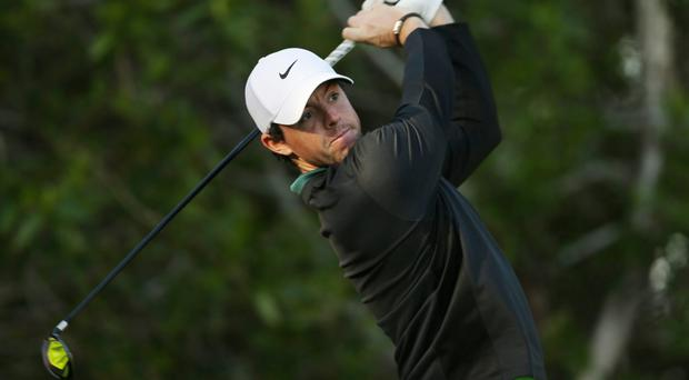 Rory McIlroy hit five birdies on the way home in Abu Dhabi