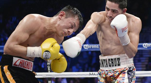 Champion: Leo Santa Cruz (right) is WBC super-bantamweight king