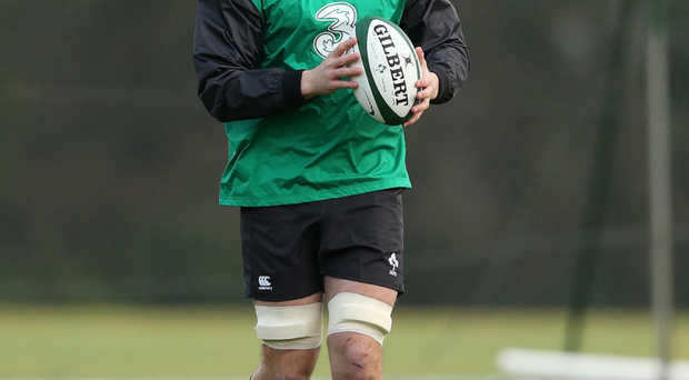 Iain Henderson training before the match against England Saxons