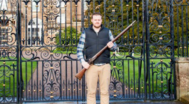 In the family: Aaron Mitchell outside Hillsborough Castle