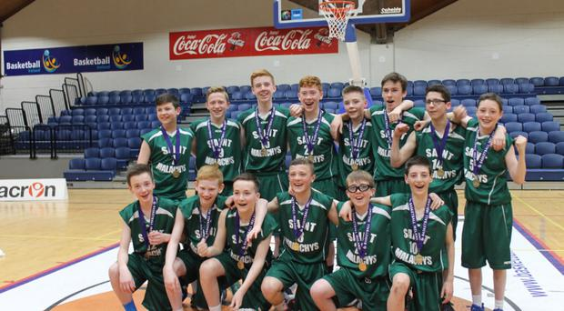 Team effort: St Malachy's College under-14s bask in their All-Ireland schools' joy