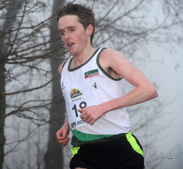 On the run: Eddie McGinley will aim for a personal best time in the Deep RiverRock Belfast Marathon
