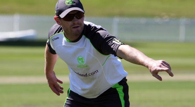 Cautious approach: William Porterfield highlighted England's quality as Ireland aim for a first home ODI win over a Test side