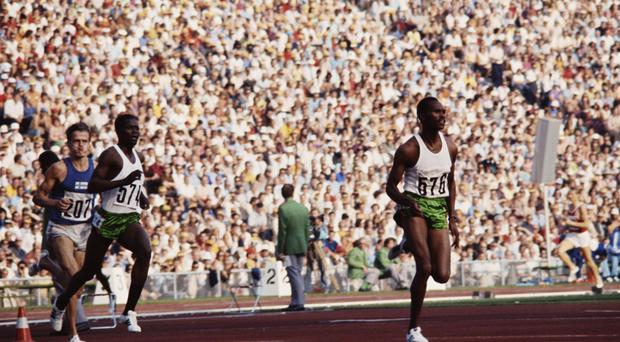 Leading man: Kip Keino on his way to Olympic gold in the 3000m Steeplechase in Munich in 1972