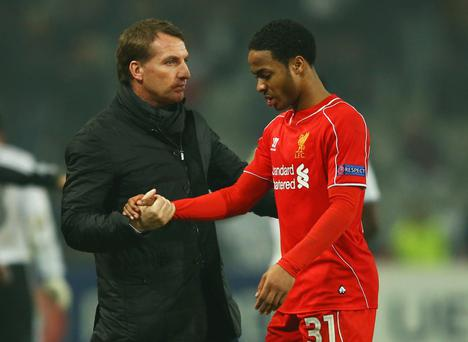 Big decision: Brendan Rodgers may be forced to sell Raheem Sterling to a Premier League rival this summer