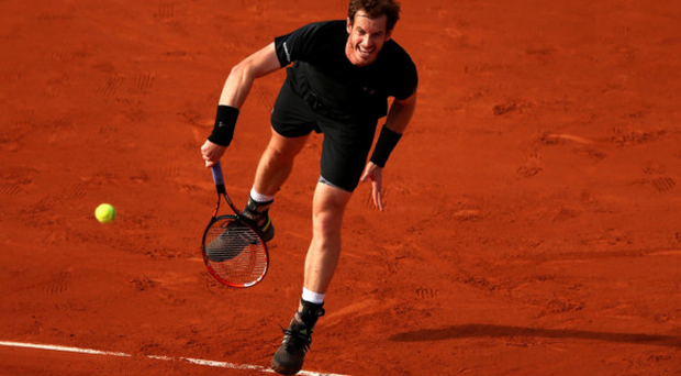 Big impact: Andy Murray turns on the power against Facundo Arguello