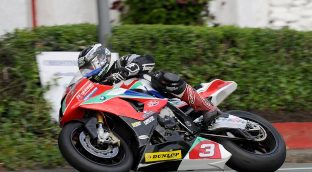 Hot wheels: Michael Dunlop on his BMW after dramatically leaving Yamaha yesterday morning