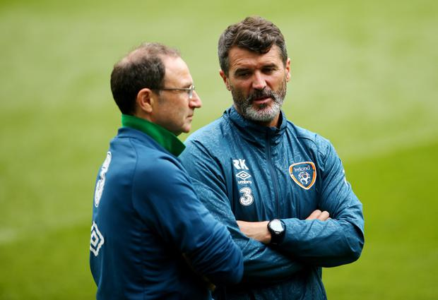 Martin O'Neill and assistant Roy Keane have been involved in a crash on the M50 in Dublin