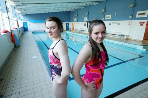 Rising stars: Emma (left) and Rebecca Reid at Ards Swimming Club