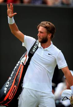 Enthusiastic outlook: Liam Broady has rediscovered his passion for tennis despite a second-round exit to David Goffin