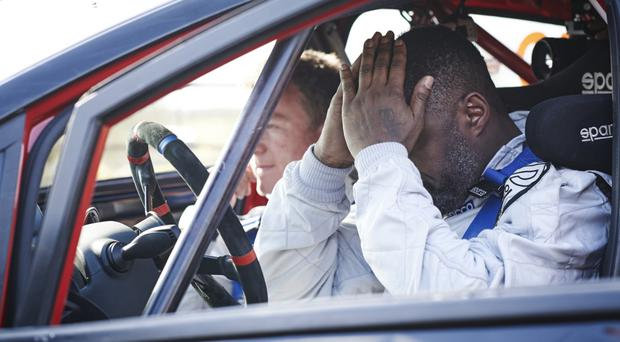 Rallying call: Idris Elba, right, with co-driver Michael Orr