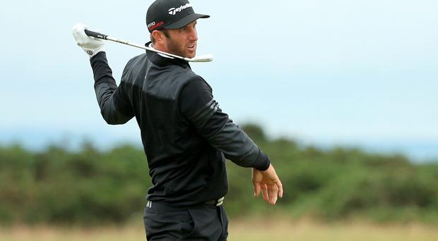 So close: Dustin Johnson has led on the final day of several Majors but has yet to manage to cross the line for victory