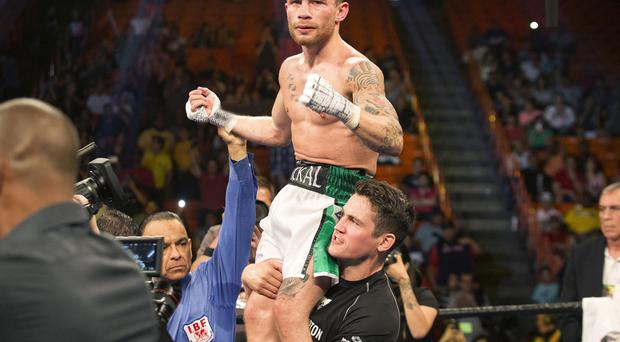 Frampton's compelling fight, in which he was knocked down twice in the first round before going on to win, was the second most watched show on UTV in 2015