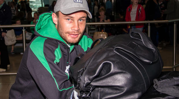 No baggage to worry about: Carl Frampton arrives in Dublin Airport yesterday INPHO