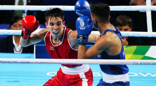 Hard hitter: Michael Conlan beat England's Qais Ashfaq to clinch gold at the Commonwealth Games last yearly