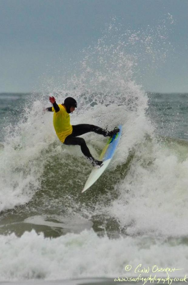 Surfers paradise: Andrew Kilfeather just off Portrush
