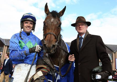Happy memories: Ruby Walsh, Hurricane Fly and Willie Mullins