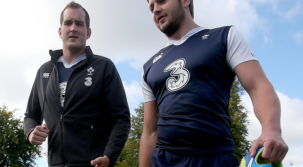 Strong competition: Devin Toner and Iain Henderson will fight with each other for a place in the Ireland starting line-up