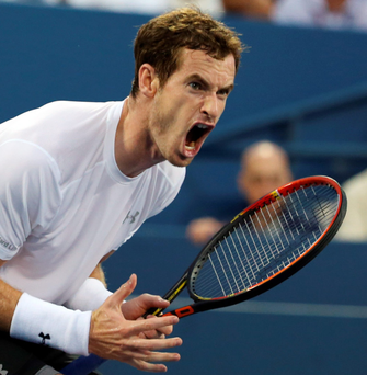 Sent packing: Andy Murray shows his frustration