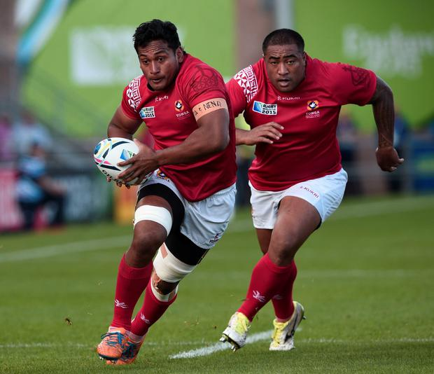 Battering Ram: Jack Ram went over for two tries for Tonga