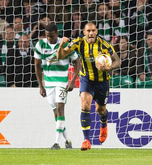 Oh Bhoy: Fenerbahce's Fernandao begins the fightback against Celtic