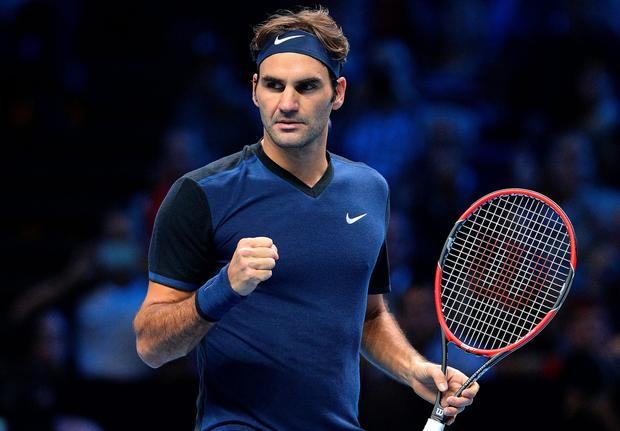First up: Roger Federer fought back from a sluggish start to win his opening match at the ATP final