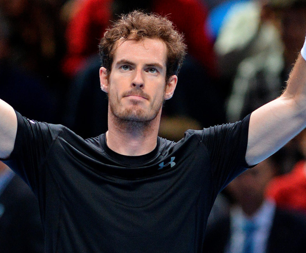 High fives: Andy Murray waves to the crowd after his victory over Spain's David Ferrer