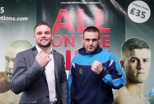 Fighting talk: Conrad Cummings and Alfredo Meli will battle it out at the Waterfront Hall tomorrow night