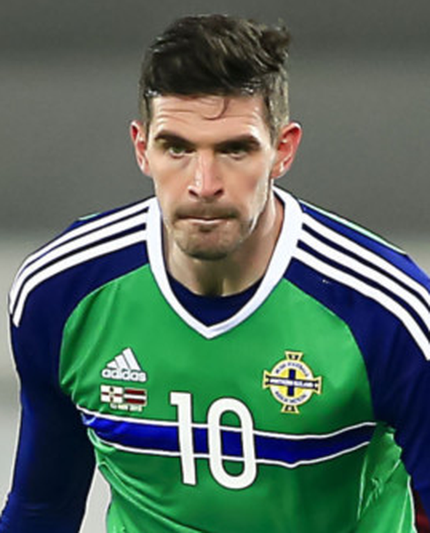 Staying: Kyle Lafferty won't be leaving Norwich just yet