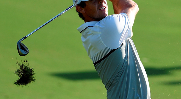 In the swing: Rory McIlroy will finish the year as European No.1 after his victory in the DP World Tour Championship