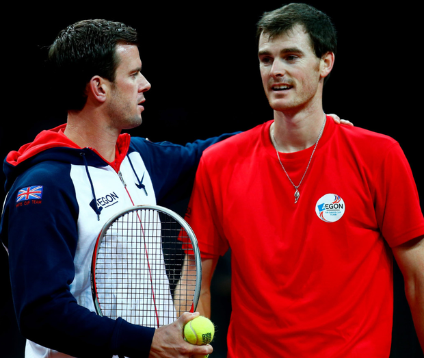 Doubling up: Leon Smith has been impressed with the red-hot form of doubles star Jamie Murray ahead of the Davis Cup final