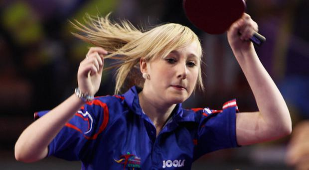 Charlotte Carey won a trio of trophies at the Douglas Huston Ulster Open Table Tennis Championships