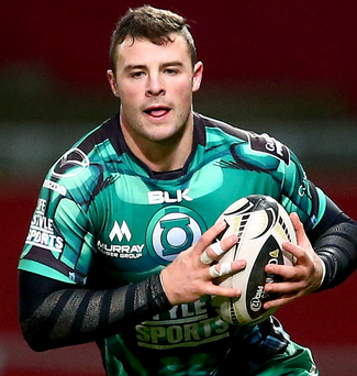 Sidelined: Robbie Henshaw has fractured his left hand